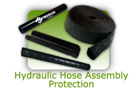 Hydraulic hose assembly protection