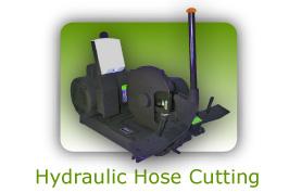 Hydraulic hose cutting